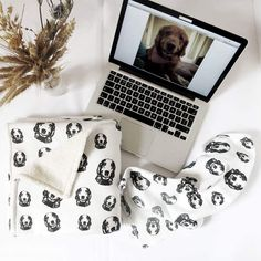 Personalised baby blanket, dog owner gifts, Organic cotton baby blanket, baby blanket with dog print Personalised Baby, Personalized Baby Blankets, Gifts For Dog Owners, Dog Lover Gifts, Organic Baby, Organic Cotton, Baby Items, Etsy, Personalised Baby Blankets
