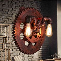 Vintage Industrial Water Pipe Coffee Corridor Wall Lamp Ceiling Light Iron Decor | Home & Garden, Lamps, Lighting & Ceiling Fans, Lamps | eBay!