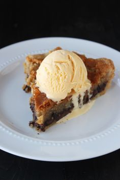 Chocolate Chip Cookie Pie has a rich, decadent, ooey and gooey chocolate chip cookie filling and a buttery and flaky homemade pie crust.