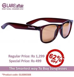EDWARD BLAZE EB-D801 BROWN WAYFARER SUNGLASSES http://www.glareaffair.com/sunglasses/edward-blaze-eb-d801-brown-wayfarer-sunglasses.html  Brand : Edward Blaze  Regular Price: Rs1,299 Special Price: Rs499  Discount : Rs800 (62%)