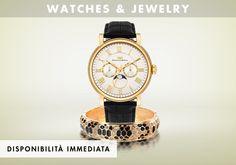 I gioielli e gli orologi completano il look con una nota di carattere. Questa selezione presenta creazioni dai modelli più eleganti e classici a quelli più originali ed eclettici.