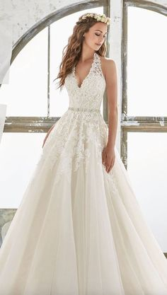 Featured Dress: Morilee; Wedding dress idea.