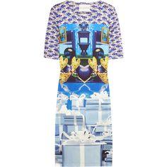 Mary Katrantzou Printed silk-jersey dress ($940) via Polyvore