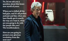 Doctor Who speech: is this Peter Capaldi's greatest moment as the Doctor?