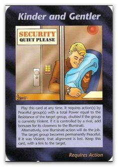Illuminati Card Kinder and Gentler