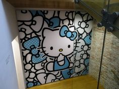 Funny Hello Kitty Wallpaper Murals for Kids Bedroom Design Ideas Hello Kitty Wallpaper Murals to Paint Girls Bedroom Walls Decor