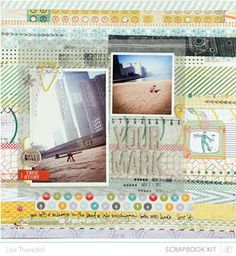you mark // scrapbook kit only by gluestickgirl at Studio Calico using the Block Party scrapbook kit and add ons