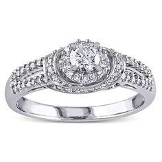 Miadora 14k Gold 1/2ct TDW Diamond Engagement Ring (G-H, I1-I2) (Size ), Women's