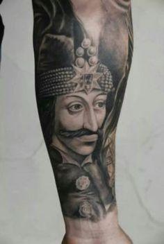 Vlad the impaler Wolf Tattoo Sleeve, Sleeve Tattoos, Vlad Der Pfähler, Hand Tattoos, Tatoos, Dracula Tattoo, Elizabeth Bathory, Vlad The Impaler, Piercings