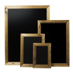 Our Budget dark oak framed chalkboards are made with a mitred, solid wooden 40mm frame with a shiny chalkboard finish to allow chalk pens to be wiped off easily.