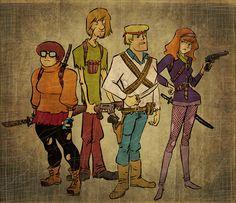 Zombie killer Scooby gang
