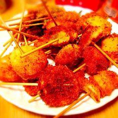 盛り方がかなり雑ですがなかなか簡単で美味でしたっ - 9件のもぐもぐ - 串揚げ by alohamahaloy