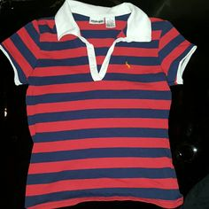 Collared shirt Red and blue striped Energie Tops