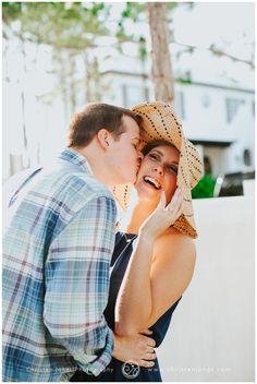 Engagement Photo Session | Alys Beach | Florida | 30 A | Christen Jones PHotography | Sun Hat | Sunset