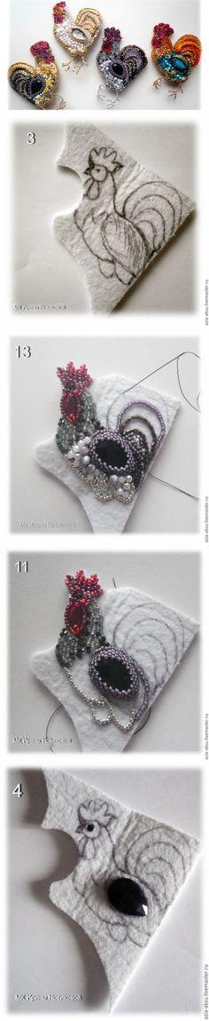 Вышиваем бисером петушка - Ярмарка Мастеров - ручная работа, handmade