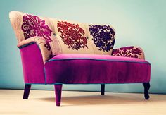 Patchwork-Sofa-Name-Design-Studio #purple #sofa