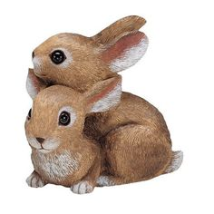 Sculptural Gardens by Heritage Farms Bunnies Playing Statuary by Sculptural Gardens by Heritage farms. $16.99. Realistic looking eyes. Filled for added weight and stability. Excellent addition to any yard or garden. Durable all-weather material resists breakage. Outdoor Sculpture. Beautifully hand decorated.
