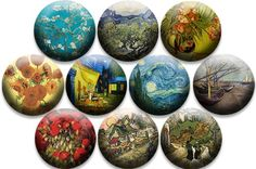 Van Gogh - Interchangeable inserts for bracelets, pendents, rings and more! http://kimrichards.magnabilities.com