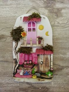 Store Leyla - Beautiful and Different Thoughts and Ideas Clay Houses, Ceramic Houses, Paper Clay, Clay Art, Clay Ornaments, Christmas Ornaments, Clay Crafts, Arts And Crafts, Polymer Clay Dolls