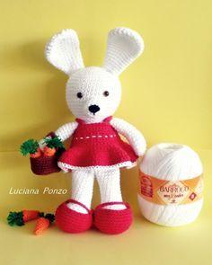 Luciana Ponzo Criações em Crochê: Receita Coelha