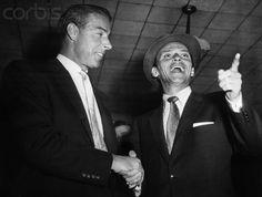 Forever Frank Sinatra : Frank greets Joe Dimaggio at Idlewild airport, ...