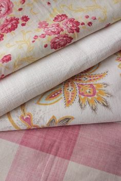 Antique French fabric vintage material PROJECT scraps patchwork PINK old www.textiletrunk.com