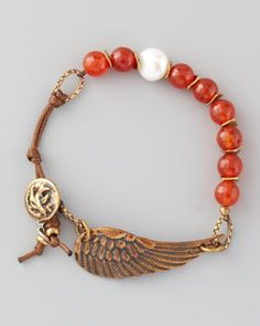 Y18XZ Love Heals Braided Red Agate Bracelet
