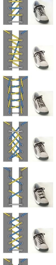 *_* how to lace shoes