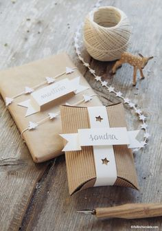 Christmas Gift Wrapping Ideas for Everyone on Your List: Punched Tags and Twine by I Fall in Chocolate