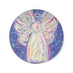 Starry Night Angel sticker