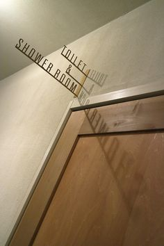 Toilet & Shower Signage | Len Kyoto Kawaramachi \ cool to reflect onto another surface for better reading
