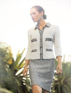 A perfectly polished #tweed #jacket & #skirt is always in style…