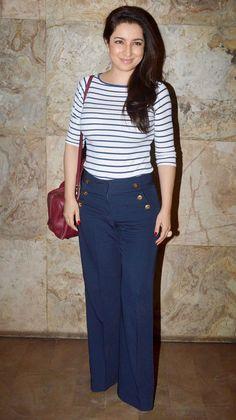 Tisca Chopra at the screening of 'Khoobsurat' held at PVR Cinemas in Juhu.