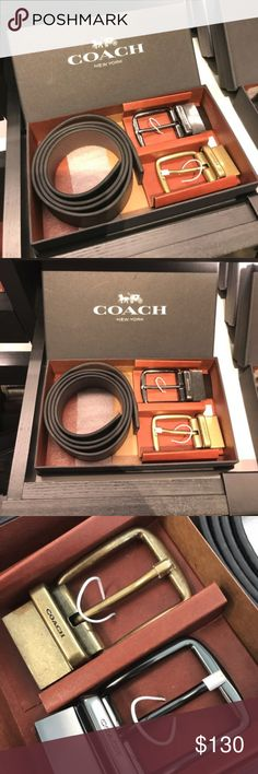 ✨🌸 Host Pick 🌸✨ Coach Mens Belt Gift Set ✨🌸 HOST PICK 🌸✨ : BEST IN GIFTS PARTY 2017   Coach Boxed Wide Mix Harness Leather Belt   Pebble Leather Belt  38mm Wide Coach Accessories Belts