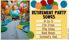 Retirement party songs
