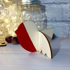 3D Wooden Red Robin Ornament/Decoration by Jellypress on Etsy