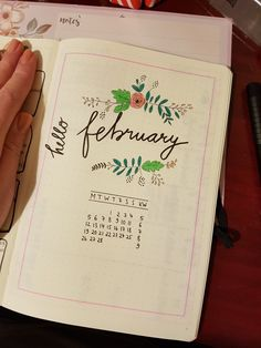 February Layout of my Bullet Journal