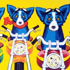 Blue Dog Easy Rider