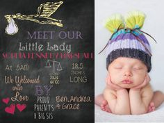TruDesignPrintables on Etsy Birth Announcement Girl, Flag Banners, Some Cards, Text Design, How To Make Notes, Print Packaging, Custom Photo, Custom Invitations, Photo Book