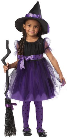 | ... Costumes >> Toddler Witch Costume >> Charmed Cute Witch Kids Costume