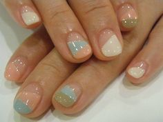 Simply pretty! This makes me want to grow my nails out.
