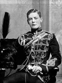 A young Winston Churchill as a Subaltern in the 4th Hussars (February 1895).