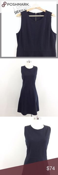 """🆕 J.CREW • stretch black sheath career dress • in excellent used condition • black stretch sheath dress from J.Crew • perfect for the office • crew neck • sleeveless • zip back  ✂️  Bust = 40"""" ✂️  Waist = 36"""" ✂️  Length = 37.5""""  • sorry no trades • please feel free to ask any questions  ❤️,  @mikimakes  060117.8.79 J. Crew Dresses Midi"""