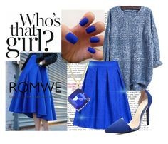 """""""Romwe.com Contest - win this blue midi skirt!"""" by indierock4life on Polyvore"""