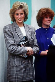 Princess Diana at Burghley Horse Trials with her sister, Lady Sarah Mccorquodale, September 10, 1989.