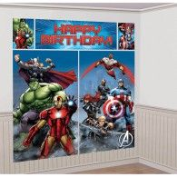 Avengers Epic Party Supplies Happy Birthday Party Scene Setter - x Avengers Party Decorations, Party Wall Decorations, Holiday Door Decorations, Party Themes, Party Ideas, Avenger Party, Marvel Avengers, Avengers Team, Birthday Wall Decoration