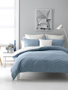 QUILT COVERS BECK DENIM QUEEN QUILT COVER SETS