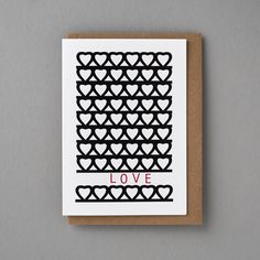 Sweet LOVE - Part of our 'LOVE' collection available online, all our Greeting cards are designed and produced in the UK.