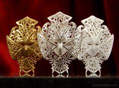 Dreamer Mask:Fighter amulet/sculpture (3D printed) by Lumecluster on deviantART