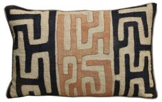 Custom   African Kuba Cloth Pillow